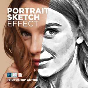 Free Photoshop Action Portrait Sketch Effect